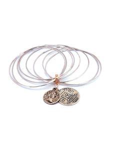 Silver roman coins bracelets  #angelaputtini #capri #angelaputtinicapri