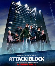 Alien flick. A group of young thugs and apartment residents battle against creatures from space that invade their building looking for something in particular. Humor included.