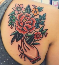 Flower Tattoo Bright Flower Tattoos and Traditional Tattoo Flowers Finger Tattoo Tattoos 3d, Tattoos Mandala, Trendy Tattoos, Body Art Tattoos, Sleeve Tattoos, Tattoos For Women, Tattoo Sleeves, Colorful Mandala Tattoo, Traditional Thigh Tattoo