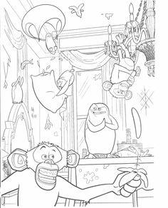 madagascar coloring pages | Madagascar 3 Coloring pages | The Cartoon Journal
