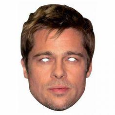 Brad Pitt Free Printable Mask.