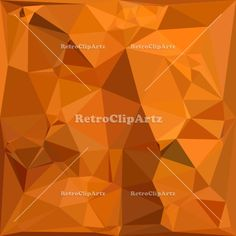 Dark Orange Carrot Abstract Low Polygon Background Vector Stock Illustration.  Low polygon style illustration of a dark orange carrot abstract geometric background. #illustration #DarkOrangeCarrotAbstract