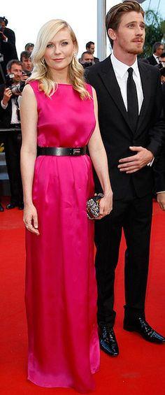 Taurus Goddess Kirsten Dunst in Dior (with her Virgo boyfriend Garrett Hedlund)