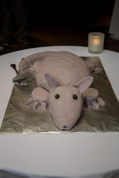 [homemade] Bleeding armadillo red velvet grooms cake made by my sister. :) Food Recipes