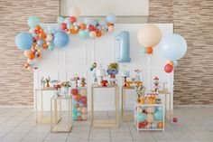Boys First Birthday Party Ideas, Girl Birthday Decorations, 1st Boy Birthday, Birthday Balloons, Diy Birthday, First Birthday Parties, First Birthdays, Diy Game, Pretty Birthday Cakes