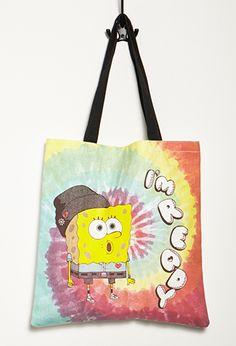 SpongeBob x Mina Kwon Tie-Dye Tote | Forever 21 PLUS - 1000096382