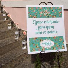 Placa de boas-vindas aos convidados ohlindeza.com