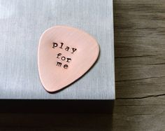 Custom Guitar Pick Personalized Gifts for Men by CynicalRedhead