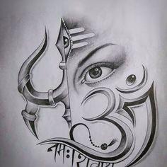 Fabulous Art Sketches | Cute Girl Ganesha Drawing, Ganesha Art, Ganesha Sketch, Lord Shiva Sketch, Art Drawings Sketches Simple, Pencil Art Drawings, My Drawings, Drawing Art, Shiva Art