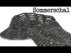 Sommer Schal mit Luftmaschen Ketten ganz leicht & schnell gemacht - super luftig - YouTube