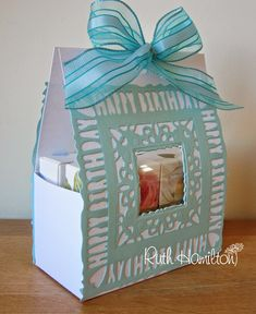 A Passion For Cards: Gift box TUTORIAL using Tonic Studios Sentiment die set