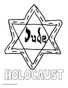 Jewish Holocaust - coloring page