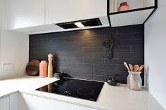 Niki & Tiff Kitchen from The Block NZ featuring Boston Lavagna 75 x 300 from Tile Space. Kitchen Tiles, Kitchen Design, The Block Nz, Baby Bathroom, Tile Manufacturers, Classic Home Decor, Splashback, Tile Design, Home Remodeling