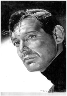 Clark Gable by donchild Sulli by Love4allHatred4none / First pinned to Celebrity Art board here... http://www.pinterest.com/fairbanksgrafix/celebrity-art/ #Drawing #Art #CelebrityArt  #ClarkGable #Gable