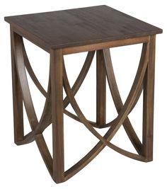 Nora End Table, Mahogany