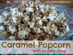 Caramel Popcorn With No Corn Syrup!