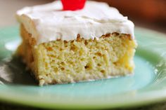 Tres Leches Cake by Ree Drummond / The Pioneer Woman    We made this yesterday and it is wonderful! Next time I make it, I will probably make two of the cakes and layer them. We used strawberries instead of cherries. I have seen it made with a mix of fruits, so just use your favorites.