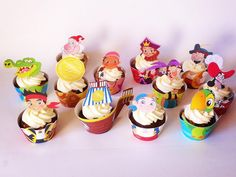Jake and the Neverland Pirates cupcakes www.facebook.com/cakesnsweets