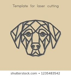 Template animal for laser cutting. Abstract geometric head dog for cut. Stencil for decorative panel of wood, metal, paper. Stylo 3d, Vaporwave Art, Polygon Art, Decorative Panels, Metal Artwork, Portfolio, Geometric Art, String Art, Laser Cutting