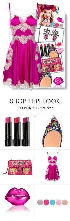 """""""Untitled #624"""" by ohnoflo ❤ liked on Polyvore featuring Bobbi Brown Cosmetics, Marc Jacobs, Christian Louboutin, Gucci, Dolce&Gabbana, Kosta Boda and Nails Inc."""