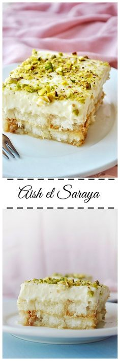 Aish el Saraya is a delicious middle eastern bread pudding.