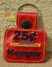 25 cent Keeper Snap tab