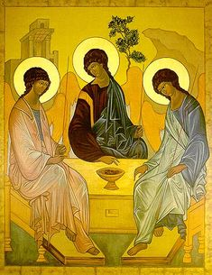 Icon Reproduction - Old Testament Trinity Religious Icons, Religious Art, Byzantine Icons, John The Baptist, Catholic Art, Old Testament, Orthodox Icons, Blessed Mother, Sacred Art