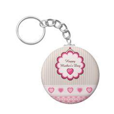Happy Mother's Day Hearts Keychains