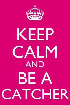 softball catcher | Keep calm catcher