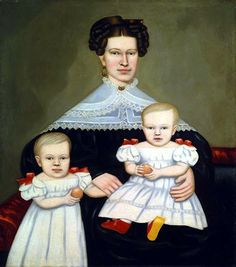 Artist: Salisbury ca:1835-1838 Mrs Paul Smith Palmer and her twins