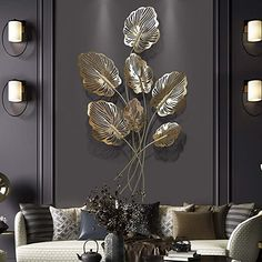 TAESOUW-Home Wall Decoration Sculpture Modern Metal Wall Sculpture Gold Hollowed Designed Wall Plaque Decorative Wall Art Hanging Decorations (Color : Gold, Size : Wall Sculpture Art, Wall Art Decor Living Room, Metal Wall Art Decor, Art Decor, Metal Walls, Living Room Art, Metal Wall Decor Living Room, Metal Tree Wall Art, Wall Design