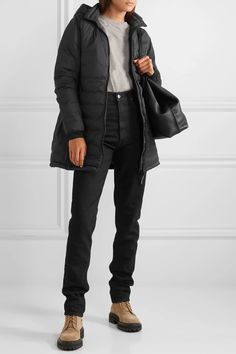 Black Camp hooded quilted ripstop down jacket | Canada Goose | NET-A-PORTER Patent Leather Leggings, Slim Legs, Flare Pants, Helmut Lang, Fashion Advice, Canada Goose Jackets, Hoods, Winter Jackets, Menswear