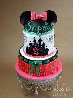 Minnie Mouse, Disneyworld birthday cake. - Cake by curiAUSSIEty custom cakes