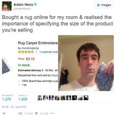 product size online shopping