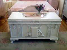 Painted Cedar Chest Distressed