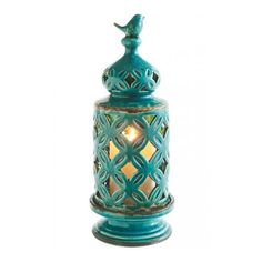 Bird Finial Pillar Lantern ($81) ❤ liked on Polyvore featuring home, home decor, candles & candleholders, bird finial, column candles, pillar candles and bird home decor