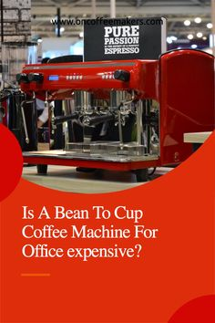 Is A Bean To Cup Coffee Machine For Office expensive? No. Bean to Cup Coffee Machines Are Cheaper to Operate When comparing the various types of coffee machines that you can place in your office, there are definitely cost considerations involved. Primarily, there will be two types of cost involved with having a coffee solution in your office, read more in the article...