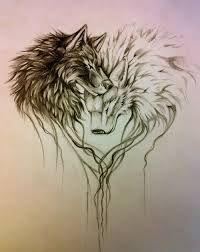 wolf leg tattoo ideas - Google Търсене