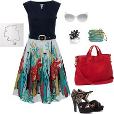 Fun Spring, created by cskinner6 on Polyvore...love this look!