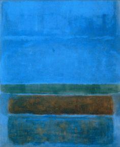 rothko blue | ROTHKO, Blue, green, brown.