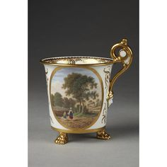 Hand painted Cup Swansea Factory Wales  painted London, England  1814-1817 (made) 1819-1823 (decorated) Baxter, Thomas, born 1782 - died 1821 (painter) Powell, John (retailer)