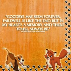 I ♥ the fox and the hound - - my childhood