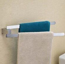 Brass chrome towel rack 2 swivel bars wall mounted towel rail bathroom toalha de banho towel holder(China (Mainland))