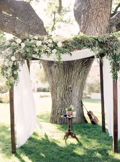Rustic + elegant ceremony arbor: http://www.stylemepretty.com/2016/02/22/rose-gold-blush-wedding-at-the-ojai-valley-inn/ | Photography: Jen Huang - http://jenhuangphoto.com/