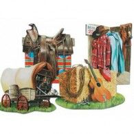 Cowboy Cutouts are a great way to decorate for your Western theme party. Each pack has 4 double-sided cowboy cutouts, 16 inches in size. Bring the Old West to life with the covered wagon, saddle, guitar and cowboy duds. Cowboy Theme, Cowboy Party, Western Theme, Western Cowboy, Rodeo Party, Western Party Supplies, Country Western Parties, Horse Themed Bedrooms, Vacation Bible School