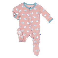 a3aa910b7 Kickee Pants Print Footie Blush Sandpiper **Pre-sale** Little Baby Girl