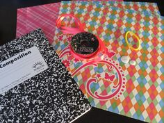 Cori Ann's Creative Living: Back to School Fun Series Notebook transformation Writing Notebook, Diy Notebook, School Fun, Back To School, Book Making, Card Making, Crafts For Teens, Teen Crafts, School Projects