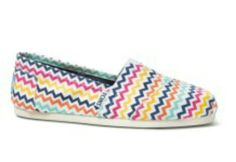 Add a pop of print with Blue Multi Tribal Print TOMS Classics.