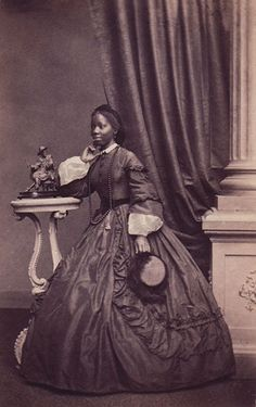 +~+~ Antique Photograph ~+~+   Sally Bonetta Forbes, born in West Africa was captured and became a slave of the King of Dahomey at 5 years old. In June 1850, Commodore Forbes of H.M.S. Bonetta arrived in Dahomey  and the King presented him with the girl as a present for Queen Victoria. She was brought back to England and Victoria and Albert paid for her education.  Later when Sally was married, Queen Victoria was godmother to their first child, named Victoria in her honour.
