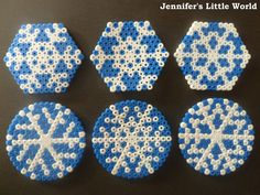 Jennifer's Little World blog - Hama bead snowflakes